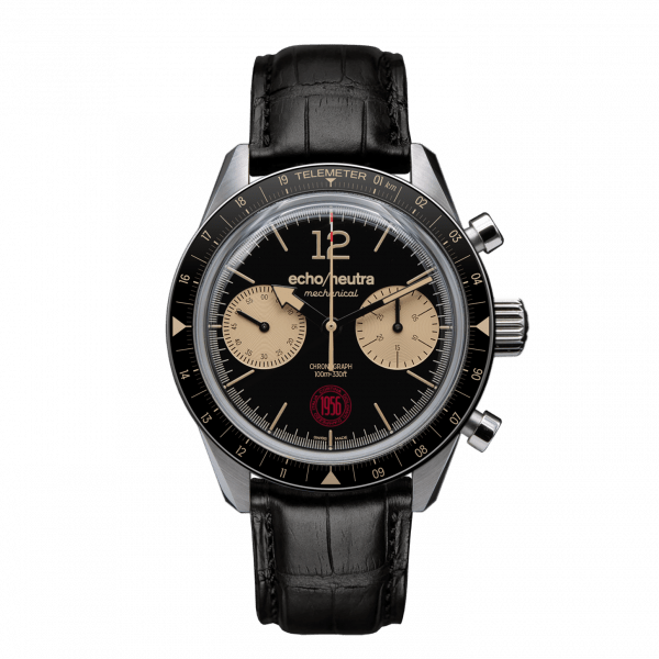 Cortina 1956 | Black hand-wound Chronograph