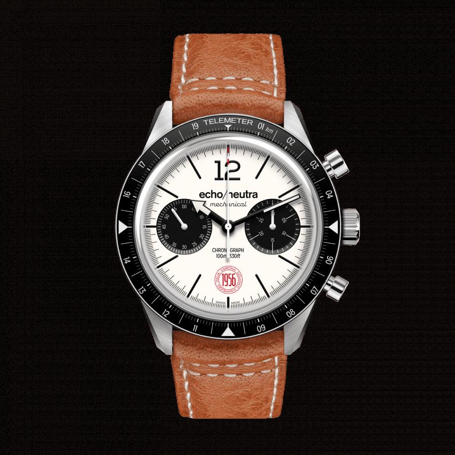 Cortina 1956 | Cronografo manuale Bianco