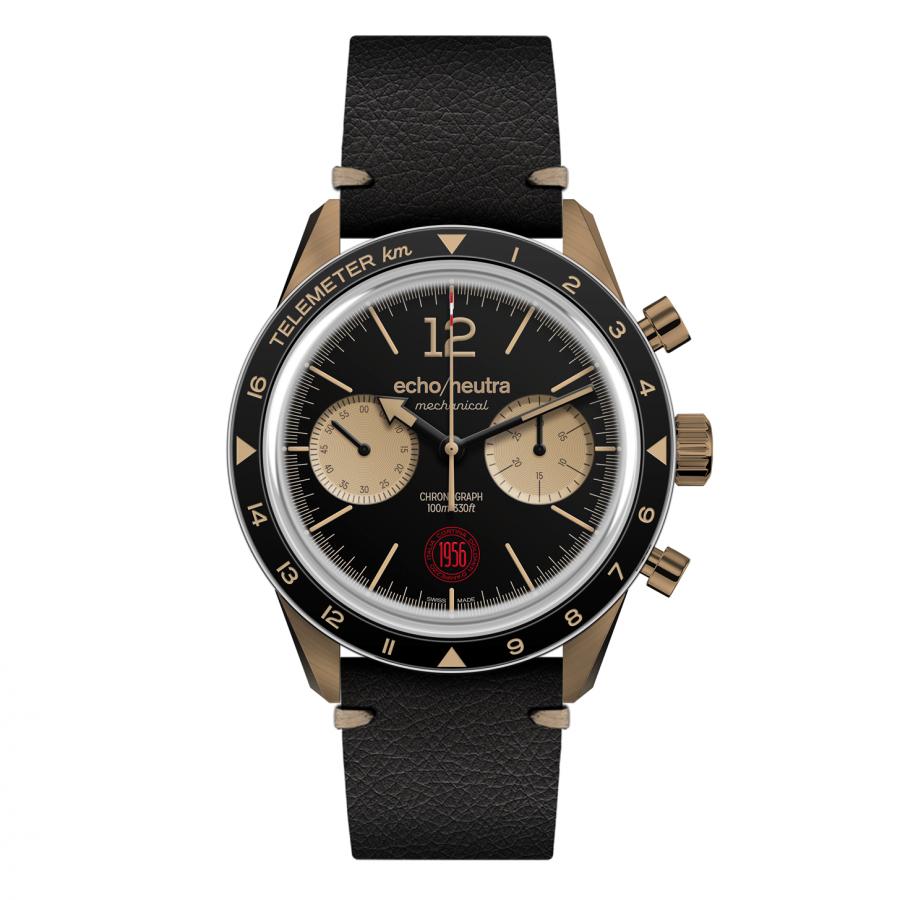 Cortina 1956 | Cronografo Bronzo Nero | Edizione Limitata