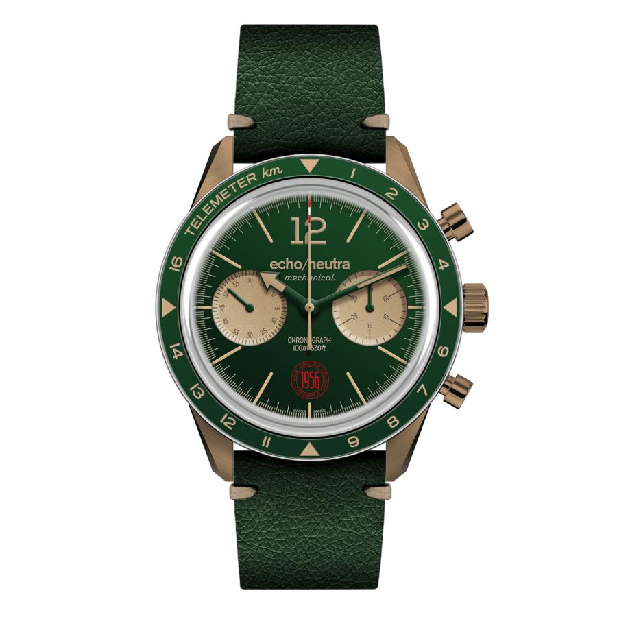 Cortina 1956 | Cronografo Bronzo Verde | Edizione Limitata