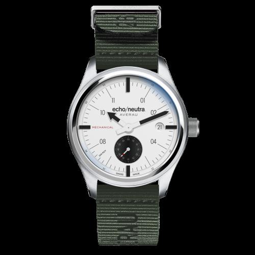 Averau-Small-Seconds-white-green-textile