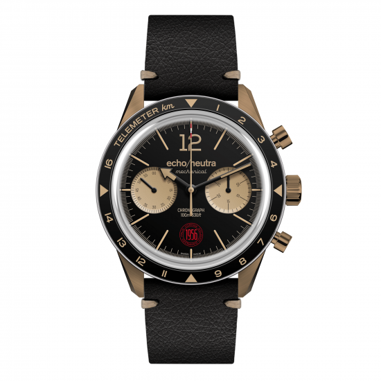 black-bronze-chronograph-vintage-strap